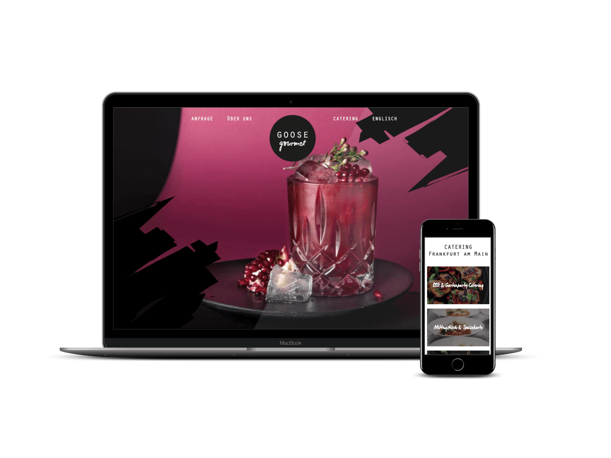 Catering Website entwicklung formwandler webdesign