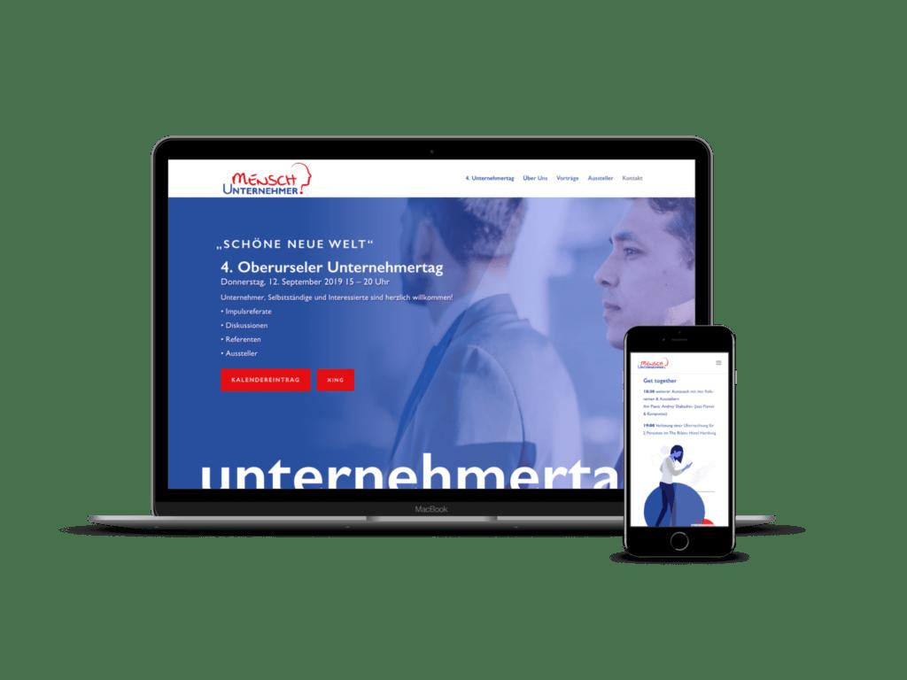 berurseler unternehmertag mockup formwandler molchkragen webdesign frankfurt
