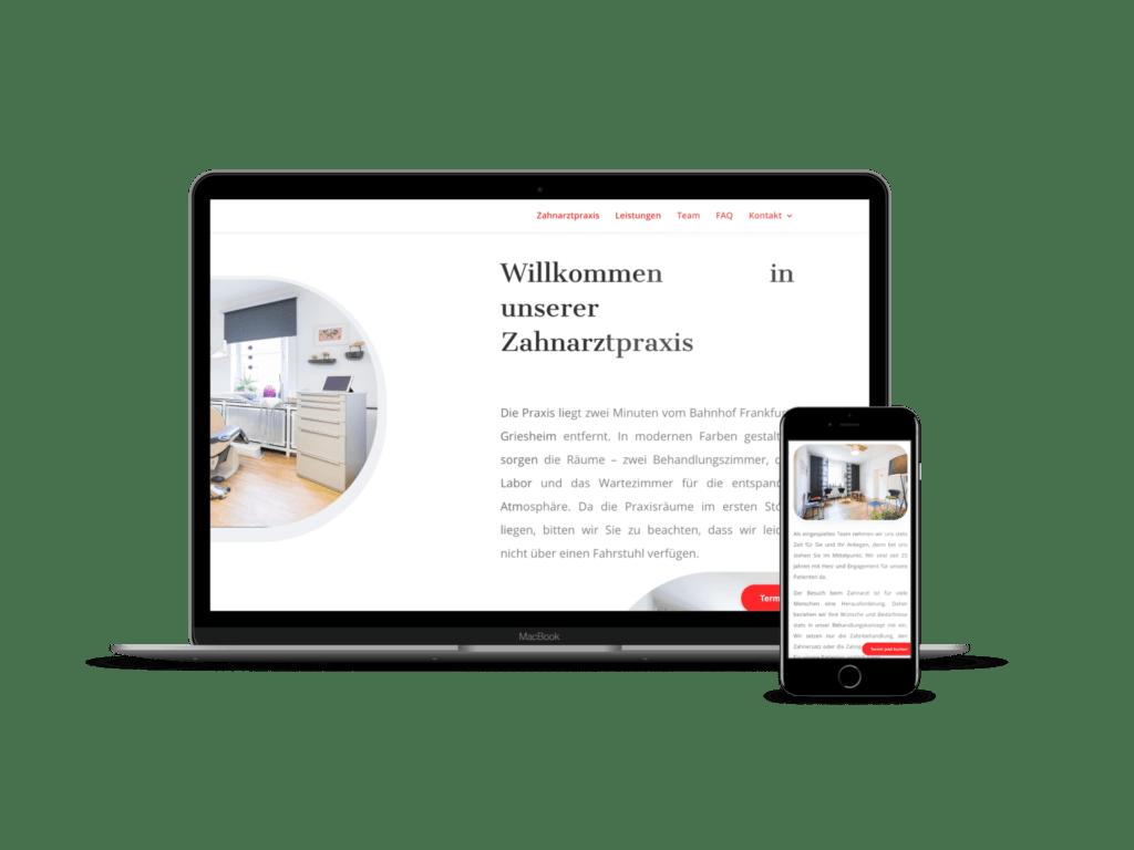 webdesign fuer zahnarzte - digitalisierung zahnarztpraxis frankfurt